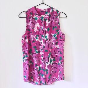 Jcrew floral printed blouse